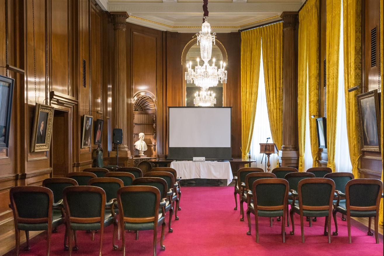 Large Court Room set for a presentation